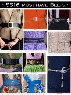 #SS16 Must have belts and eyewear #fashiontrends