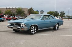 Richard's & Mary's second car. Way too cool.  1966 Chevelle