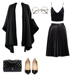 """""""Senza titolo #3"""" by pulsonettialessia on Polyvore featuring moda, Christian Louboutin, Cusp by Neiman Marcus, Yves Saint Laurent e Chanel"""