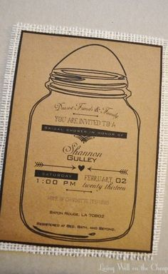DIY Kraft Paper and Burlap Invitations | Living Well on the Cheap