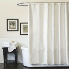 Channel White Shower Curtain