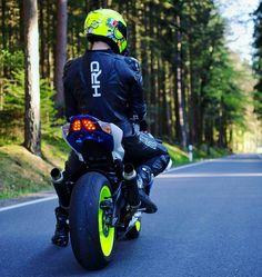 #Helmet #Racing #StuntPerformer #Motorcycle Wheel, Yellow, Stunt,  - Follow #extremegentleman for more pics like this!