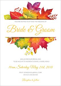 Creative Wedding Invites – Create your own beautifully designed wedding invitation and download immediately