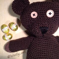 What to do at Easter when your partner doesn't eat much chocolate???? .........make him an amigurumi Mr Bean teddy of course   Pattern by Andrea Gaida 100% wool  3mm          #mrbeanteddy #mrbean #amigurumi #amigurumiteddy #amigurimicrochet #amigurumibear #craftastherapy #crochet #crochetlove #crochetaddict #ilovecrochet #bhooked #igcrochet #crochetersofinstagram #crochetgirlgang by woolly_owl