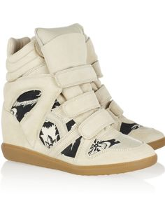 Isabel Marant x Net a porter : les nouvelles sneakers qui nous font déjà craquer ! http://laminutemodedemarinette.blogspot.fr/2013/03/isabel-marant-x-net-porter-les-sneakers.html?m=1