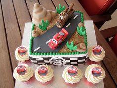 Disney Pixar Cars cake & matching cupcakes   Flickr - Photo Sharing!