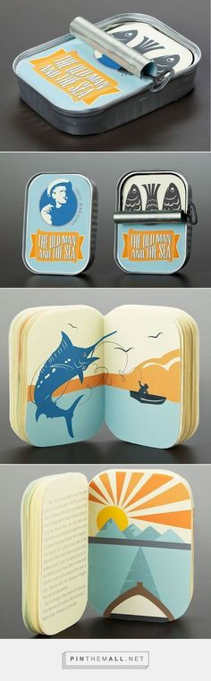 Brilliant Tin Can Packaging For Hemingway's Classic 'The Old Man And The Sea':