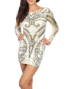 Bought this dress too!!!! LOVE IT!!!!Paisley Foil Screen Tunic  from ArdenB.com