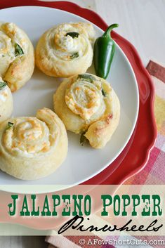 Great game day appetizer! Try this Jalapeño Popper Pinwheels Recipe