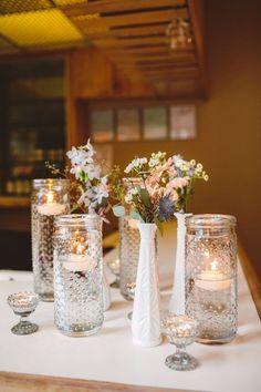 Milk Glass Centerpieces 6