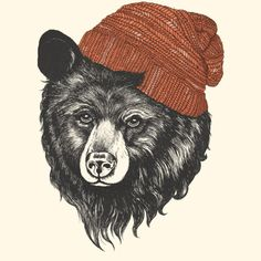 zissou the bear is an Art Print designed by lauragraves to illustrate your life and is available at Design By Humans