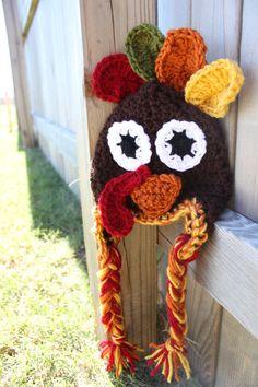 A crochet turkey hat!! too cute!