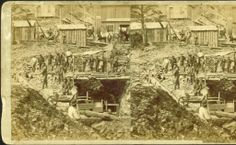 Drifting for Gold. Placer digging under Deadwood. Deadwood City Archives on the Black Hills Knowledge Network.