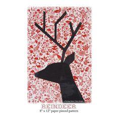 Reindeer Paper Pieced Block