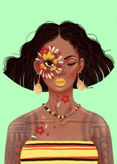 Flower Eye🌻🌼👁 I've been in a kind of rut for the past couple of days, but I realize I may have just been burnt out. I've been drawing, but… Traditional Filipino Tattoo, Filipino Art, Filipino Culture, Philippine Art, Mini Canvas Art, Beauty Illustration, Drawing Journal, Indigenous Art, Dope Art