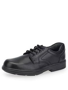 Start-Rite Boys Isaac School Shoes - Black Leather, Black Leather, Size - Black Leather - Older Black Shoes, All Black Sneakers, Boys School Shoes, School Uniform, Black Leather, Footwear, Lace Up, Shopping, Style