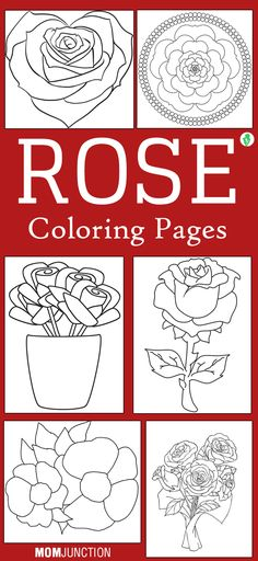 10 Beautiful Rose Coloring Pages For Your Little Girl