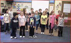 The Phonics Dance Hunks and Chunks  https://www.youtube.com/watch?v=agbQRQN_SHc