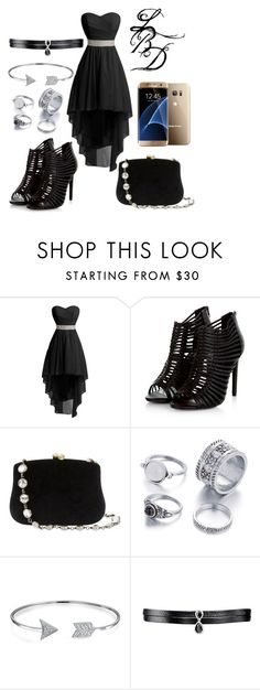 """Little Black Dress"" by jinxr2m ❤ liked on Polyvore featuring Serpui, Samsung, Bling Jewelry and Fallon"