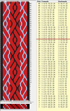 24 tarjetas, 3 colores, repite cada 32 movimientos // sed_717 diseñado en GTT༺❁