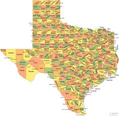 Texas has 254 counties. Texas' largest county is Brewster with 6,208 square miles. Connecticut (5,544 Sq Mi),  Delaware (2,489 Sq Mi) and Rhode Island (1,545 Sq Mi) can fit inside this county.