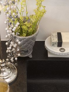 Lene Bjerre - SPRING 2013. PRECIOUS flower pot and PURITY BATH soap dish with NATURAL CARE soap.