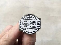I Can't Keep Up  Hard Enamel Lapel Pin by monstersoutside on Etsy