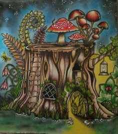 Stump enchanted forest
