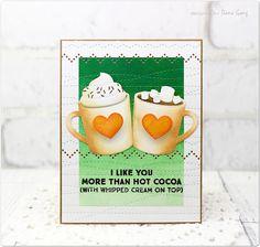 Dana Card Design: Winter cocoa card |MFT Die-namics LLD Hot Cocoa Cups