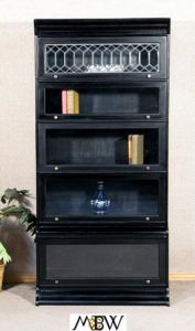 black barrister bookcase   ( i have one Im going to paint to look like this! )