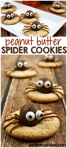 If you have a huge peanut butter nut in your house, they are going to love these peanut butter spider cookies. These are so yummy and fun!
