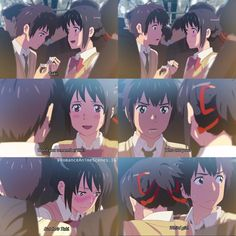 Stressed, depressed (thanks to this movie) and anime obsessed // What is one anime that made you cry? Anime: Your name. Otaku Anime, Anime Fr, Your Name Movie, Your Name Anime, Clannad After Story, Christopher Robin, Scott Pilgrim, Icarly, Mean Girls