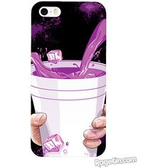 Hi-Rez Purple Drank Phone Case exclusively from RageOn! ❤ liked on Polyvore featuring accessories, tech accessories, phone cases, phones and case