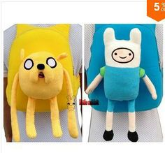 jake and finn adventure time school bag girl boy children special purpose kid cartoon baby plush backpack back pack schoolbag-in Backpacks f...