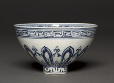 China, Jiangxi province, Jingdezhen, Ming dynasty (1368-1644), Yongle period (1403-1424), porcelain with underglaze blue decoration, Diameter: w. 10.20 cm (4 inches); Overall: h. 6.00 cm (2 5/16 inches). John L. Severance Fund 1953.15