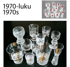 Kosta Boda, Glass Collection, Finland, Dinnerware, Shot Glass, Mid-century Modern, Scandinavian, Glass Art, Retro Vintage