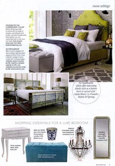 Instantly add glamour with our Valentino design made from antiqued glass http://simonhorn.com/ The Resident at Home May 2016