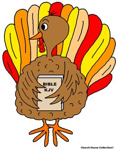 Turkey Holding Bible Coloring Page For Sunday School