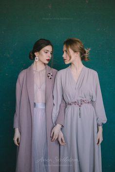 Look at these womens casual fashion Lilac Wedding Dresses, Wrap Wedding Dress, Custom Wedding Dress, Wrap Dress, Bridesmaid Dresses, Foto Fashion, Hijab Fashion, Fashion Outfits, Ladies Fashion
