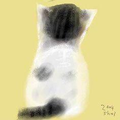 Risultati immagini per shozo ozaki Asian Cat, Oriental Cat, Japanese Cat, Cat Character, Dog Poster, Animal Sketches, Cat Drawing, Animal Paintings, Cool Cats