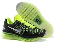 Nike Air Max 2009 womens Running Shoe Black Fluorescence Green .