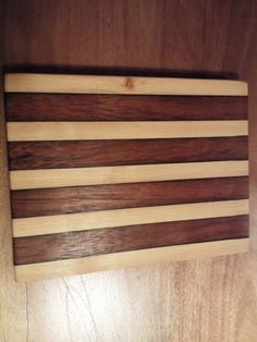 A cutting board i made for use in  the kitchen.
