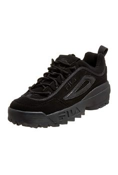 """Fila Men's Strada Disruptor  #fila #men #strada #shoes #daily #casual #outfit #amazon #affiliate """"This is an affiliate link from Amazon Affiliate Program"""" All Black Sneakers, Amazon, Link, Casual, Stuff To Buy, Outfits, Shoes, Fashion, Moda"""