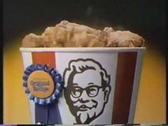 1984 commercial for Kentucky Fried Chicken 1980s Kids, Kentucky Fried, Tv Commercials, Kfc, Fried Chicken, Fries, Overalls, Cooking Recipes, Make It Yourself