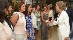 La reina Sofía a su llegada al Congreso Mundial de Prehistoria y Protohistoria
