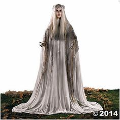 Halloween LifeSize Haunting Vintage Jilted Bride And Black Rose Prop Decoraction