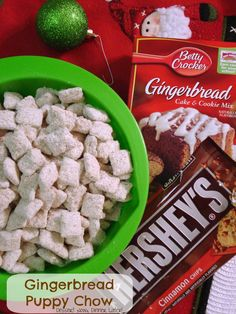 Dessert Now, Dinner Later! : Gingerbread Puppy Chow #recipe #Christmas