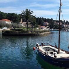 #sea #relaxing #holidays #perfect #day #beautiful #island #palmtree #reflection #sky #nature #boat #sailboat #sunlight #vrboska #hvar #croatia by dalijafredotovic