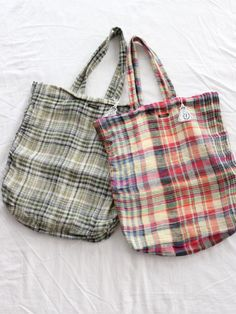 plaid market bags
