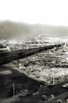 After the bombing, Sannomiya, Kobe, Japan 6/5/1945 神戸空襲